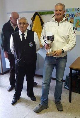 Il vincitore Michele Maijnelli con il direttore di gara Cosimo Crepaldi
