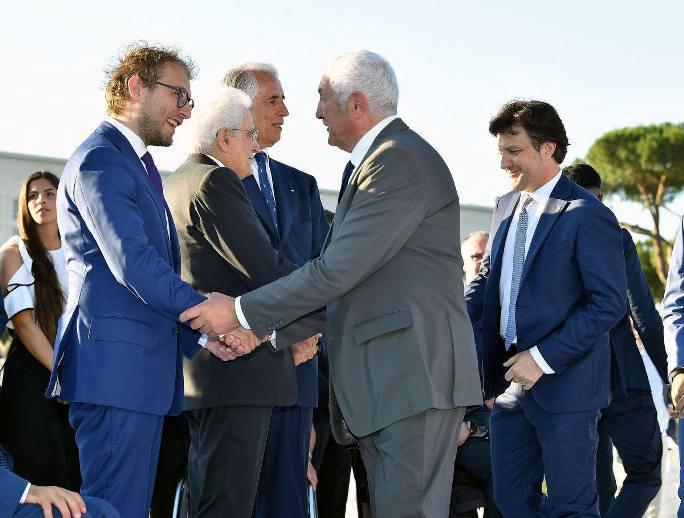 Carlo Bordini incontra Sergio Mattarella